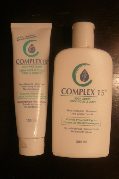 Complex 15 Body Lotion, Complex 15 Face Lotion