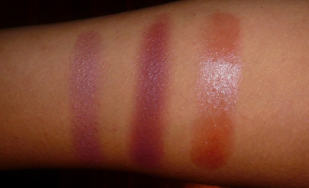 Plum blush swatches (4)