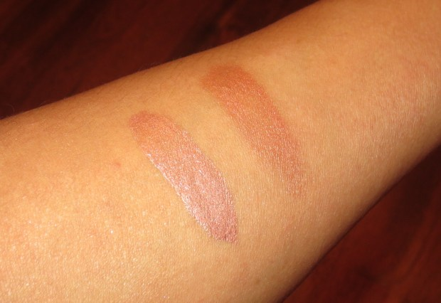 Clinique Uplighting in Bronze swatches (2)