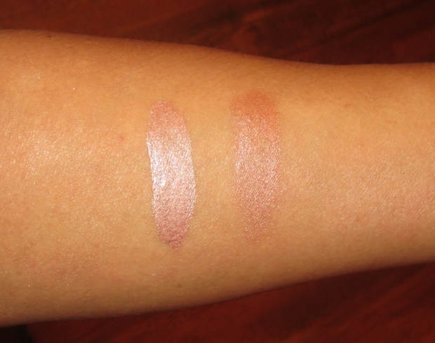 Clinique Uplighting in Bronze swatches (3)
