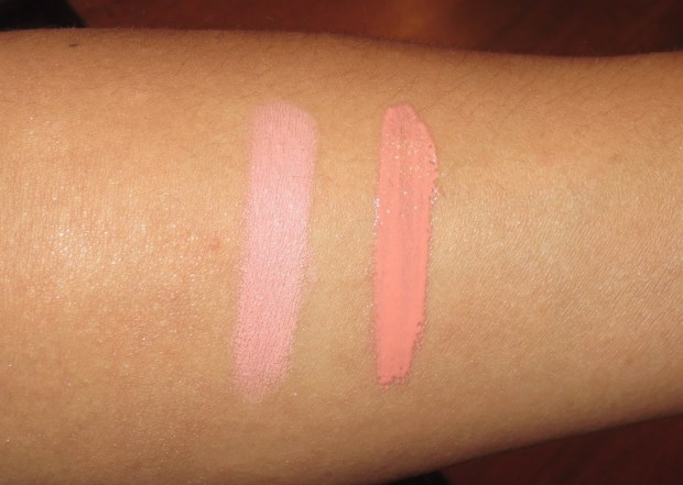 Illamasqua Lipstick in Obey and Lipgloss in Plentiful swatches (2)