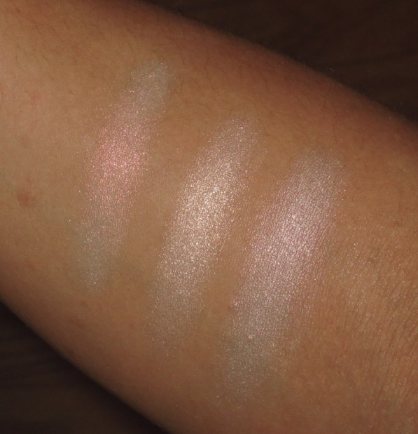 Highlight Eyeshadow Swatches - MUFE 920, KATE BR-2, MAC Vex