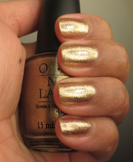 OPI Dazzled by Gold (2)