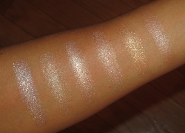Peach-Champagne Eyeshadow Swatches (9)