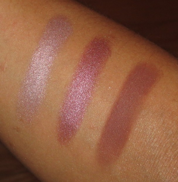 Rose-Mauve Eyeshadow Swatches - UD Bordello, UD Last Call, NARS Grand Palais