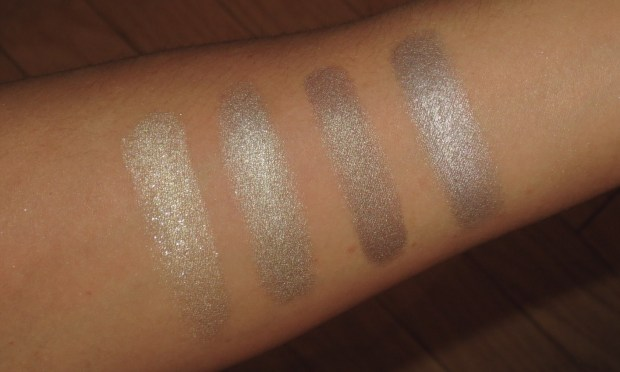 Silver-Taupe Eyeshadow Swatches - UD Maui Wowie, Bobbi Brown Pewter, theBalm Insane Jane, MUFE #2
