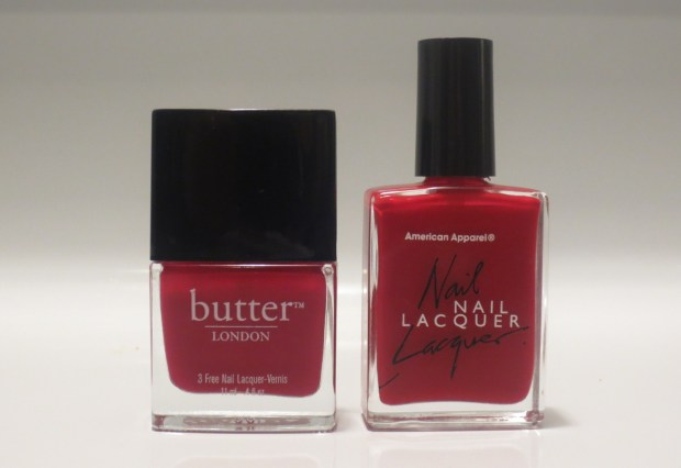 American Apparel vs butter London