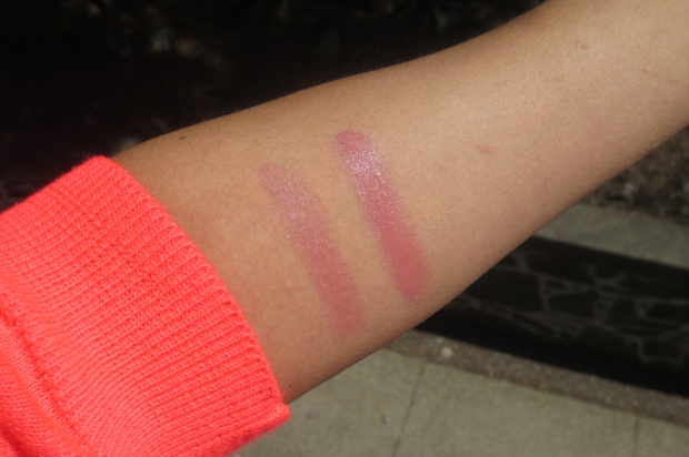 YSL Rouge Volupte Shine #8 Pink In Confidence swatches (5)
