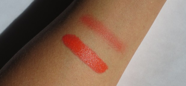 MAC Morange swatches