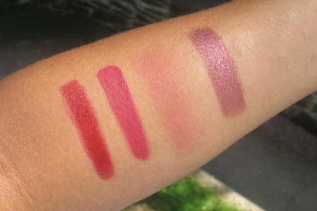 Fall Makeup - Deep Red swatches (3)