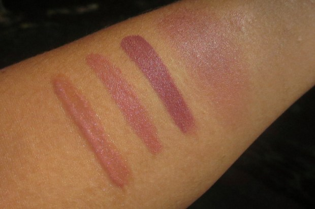 Fall Makeup - Mauves swatches