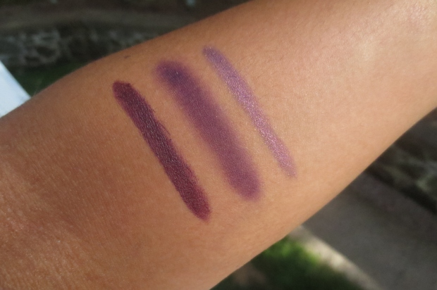 Fall Makeup - Violet swatches (2)