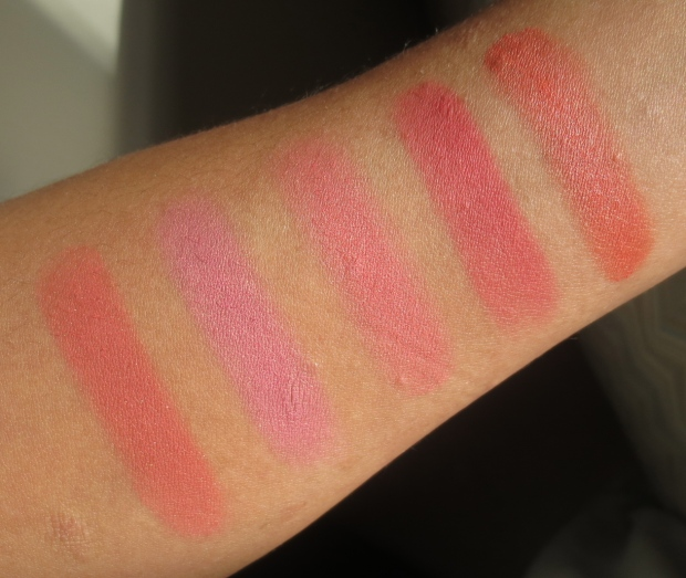 Tom Ford Flush comparison swatches