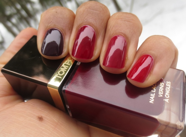 Tom Ford Bordeaux Lust swatch comparison