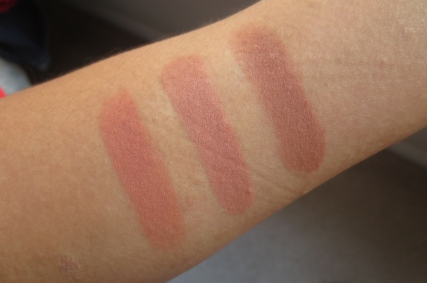 Becca Sweet Pea Mineral Blush comparison swatches