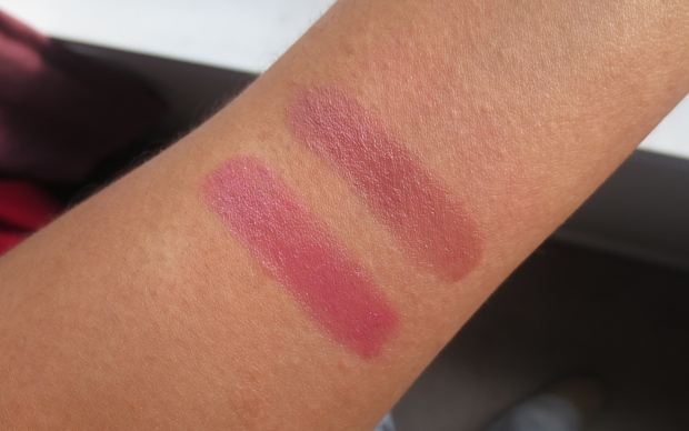 Giorgio Armani Rouge d'Armani 606 swatch comparison
