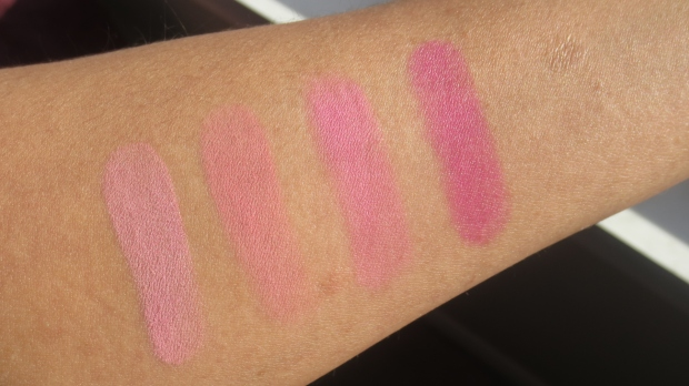 Cool Pink Blush Swatches