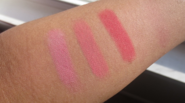 Warm Pink Blush swatches