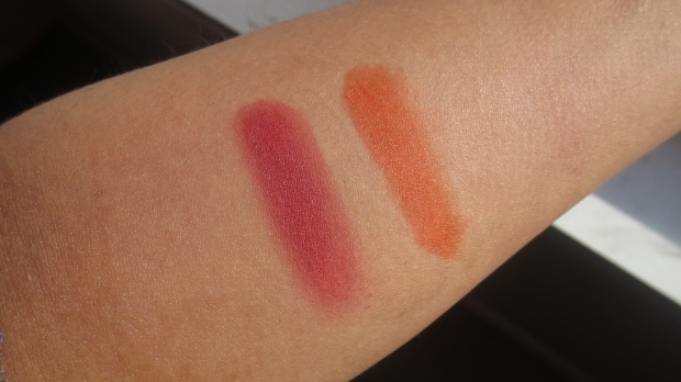 Red Blush swatches