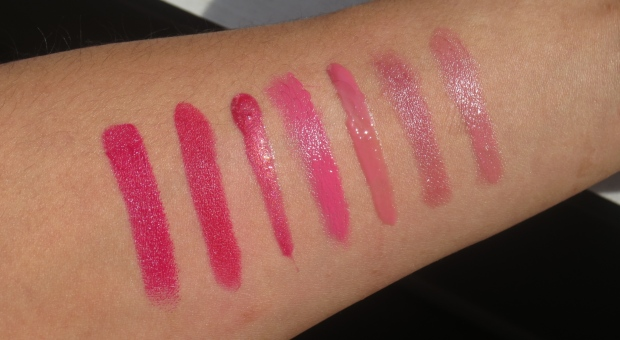 Warm Pink Lippie swatches