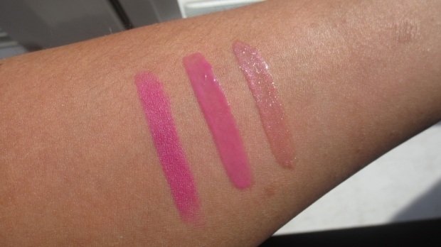 Cool Pink lippie swatches
