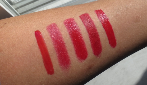 Red Lippie swatches