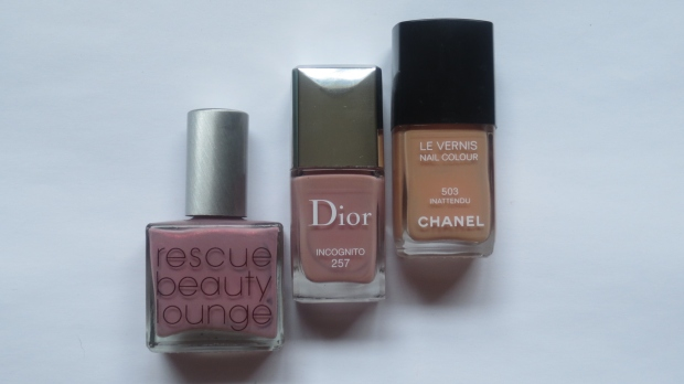 Dior Incognito vernis vs RBL Poco a Poco vs Chanel Inattendu comparison