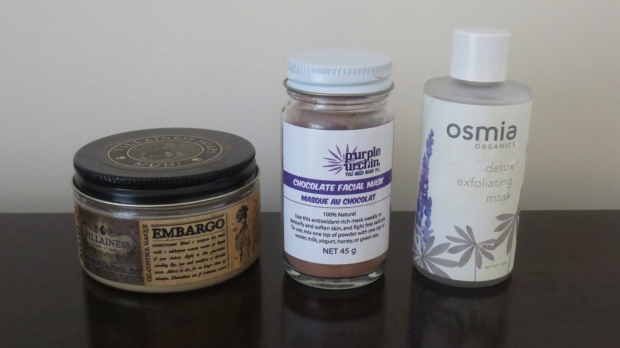 Organic clay masques