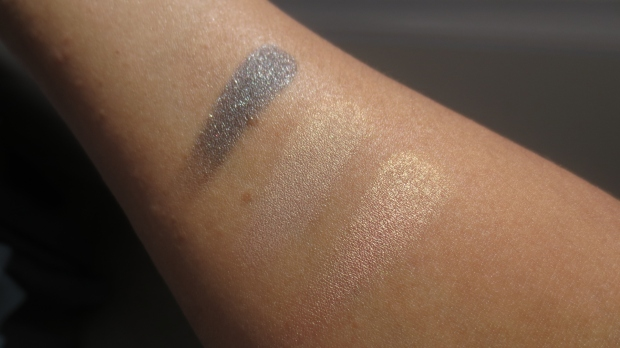 MAC Soul Serenade Rubenesque Bobbi Brown Sandy Gold eyeshadow swatches