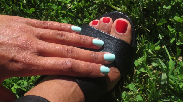 Summer Polish Combo Red & Mint