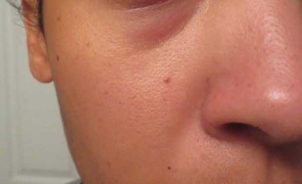 Skin after MUFE primer