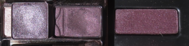 Urban Decay Rockstar shadow comparison