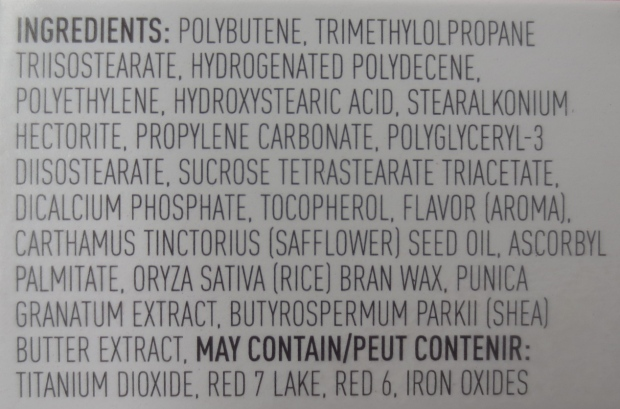 Korres Lip Butter in Pomegranate ingredients
