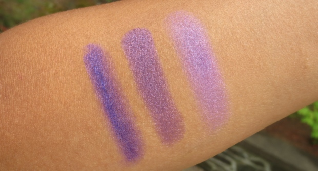 MAC vs Urban Decay vs Kat Von D shadow swatches