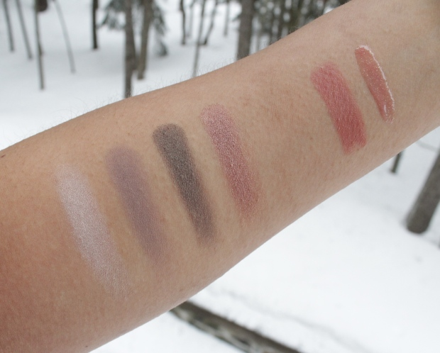 MUFE 50 Shades of Grey Makeup Coffret swatches