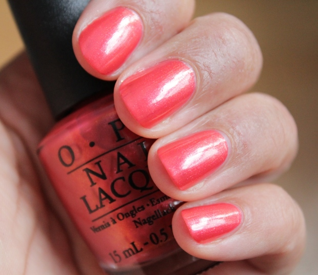 OPI go with the lava flow swatch