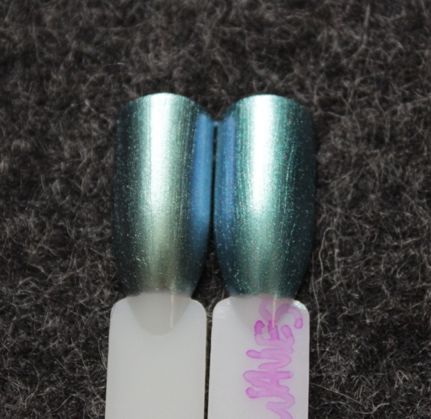 OPI this color's making waves swatch comparison