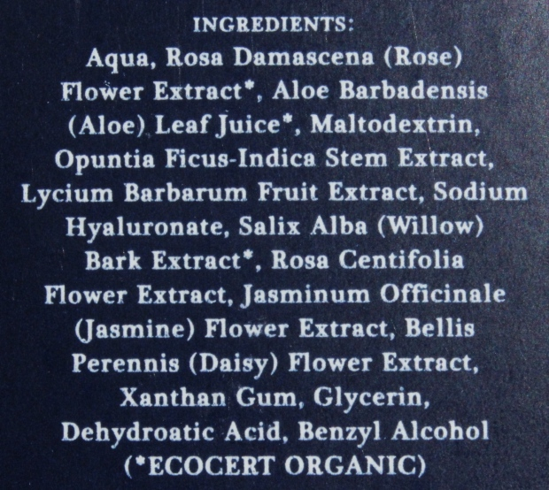 MUN No.11 Anarose Toner ingredients