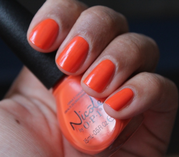 Nicole by OPI The Look is Orange swatch