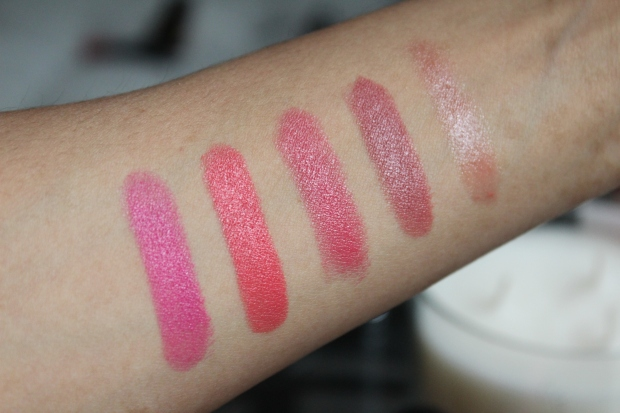 Lipsticks Givenchy MAC Clarins swatches