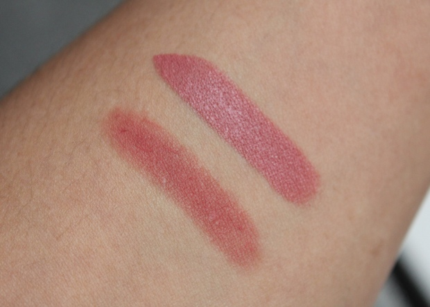 NARS Dolce Vita vs MAC Cosmos lipstick comparison swatches