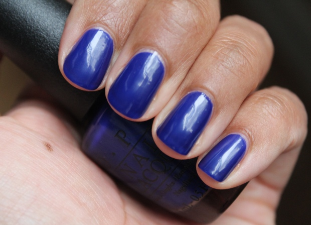 OPI My Car Has Navy-gation swatch