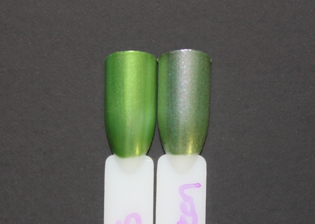 OPI Visions of Georgia Green swatch comparison