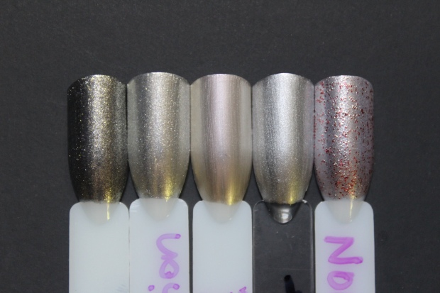 OPI Centennial Celebration swatch comparison