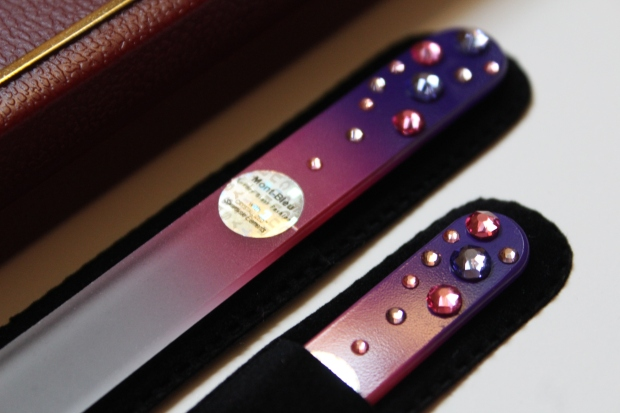 Mont Bleu glass nail files