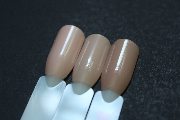 OPI Nail Envy Samoan Sand comparison swatches