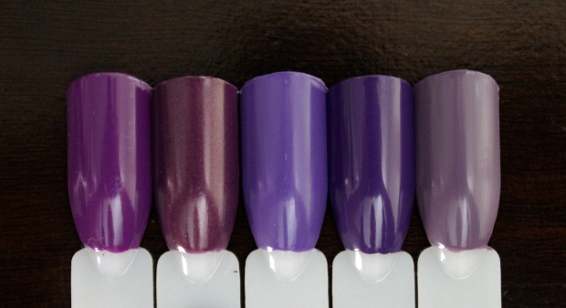 OPI Purpletual Emotion swatch comparison
