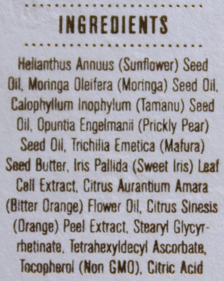 Kypris Body Elixir Inflorescence ingredients