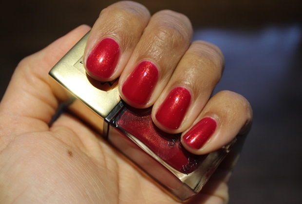 YSL Carmin D'Or polish swatch